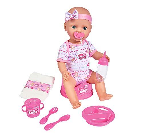 Simba 105039005 - New Born Baby Puppe / Trink- und Nässfunktion / 8...
