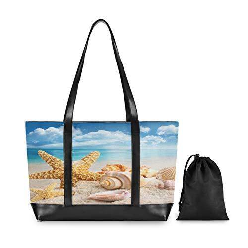 ALARGE Laptop-Tragetasche mit Meeres- und Ozean-Strandmuscheln, für...