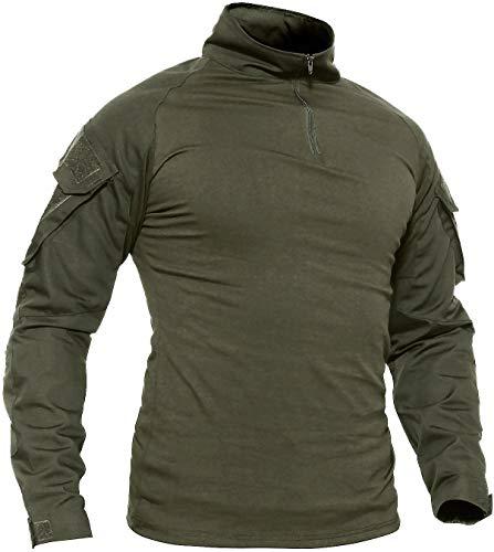 TACVASEN Camping Shirt Herren Longsleeve Slim Fit T-Shirt Sport Shirt...