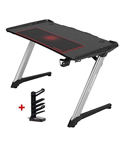 Ultradesk Racer - Gaming Tisch mit Rahmen aus Aluminium,...