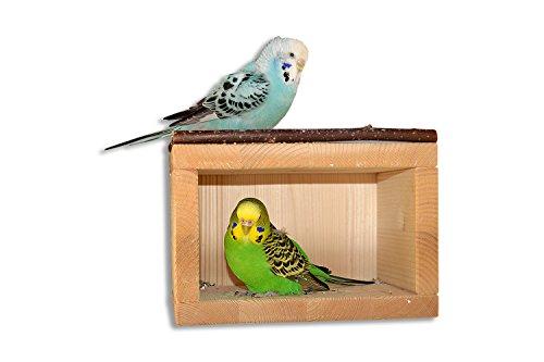 Süßes Vogelhäuschen, Schlafhaus aus Holz für den Vogelkäfig oder...