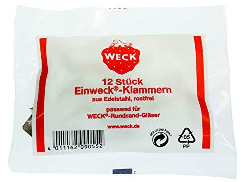 Weck Einweck - Klammern (passend zu den Weck-Rundrandgläsern: 120,...