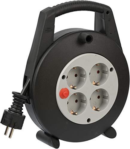 Brennenstuhl Vario Line Kabelbox 4-fach / Mini-Kabeltrommel...