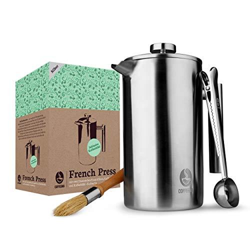 Coffeema® Premium French Press 1 Liter – Hochwertiger...