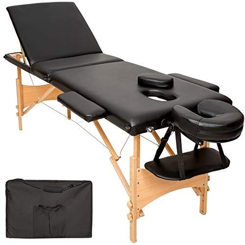 TecTake Mobile Massageliege 3 Zonen höhenverstellbar inkl....