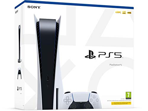 PS5 Sony PlayStation 5 Konsole Standard Edition, 825GB SSD, 4K/8K, HDR...