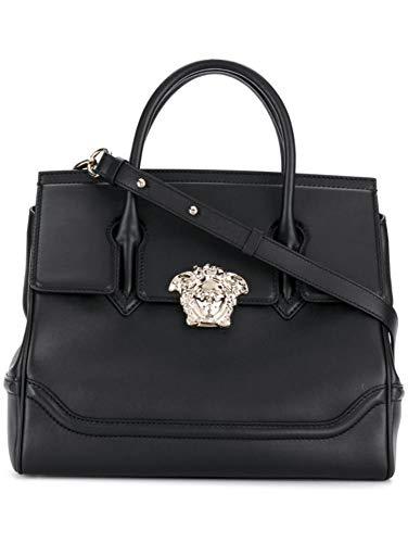 Versace Luxury Fashion Damen DBFF453NDSTVTD41OC Schwarz Leder...