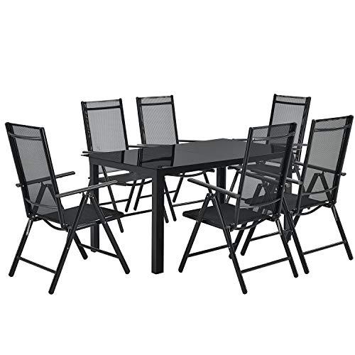 ArtLife Aluminium Gartengarnitur Milano   Gartenmöbel Set mit Tisch...