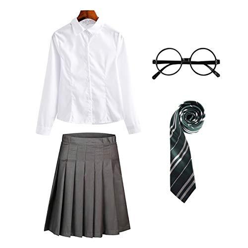FStory&Winyee Zauberer Set Bluse Rock Weste Krawatte Brille Kostüm...