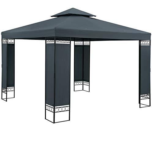 Casaria Pavillon Lorca 3x3m Anthrazit Stabil Wasserabweisend Robust...