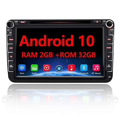 AWESAFE Android 10 Autoradio für VW Skoda Seat, 2 DIN 8 Zoll...