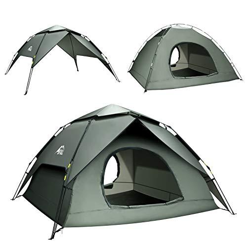 BFULL Pop-up Familie Camping Zelt 4-5 Personen, wasserdicht belüftet...