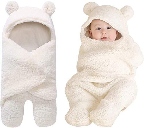 Wickeldecke mit Kapuze für Babys, Neugeborenes erhält Wickeldecke...