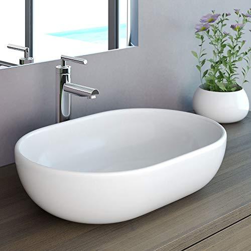 NEG Waschbecken Uno34A (oval) Aufsatz-Waschschale/Waschtisch (weiß)...