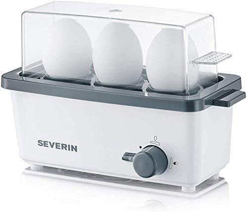 SEVERIN EK 3161 Eierkocher (Inkl. Wasser-Messbecher mit Eierstecher, 3...