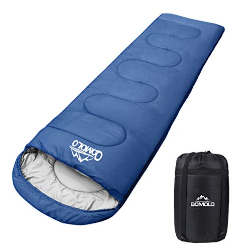 Qomolo Schlafsack, 1000g Outdoor Deckenschlafsack Tragbar...