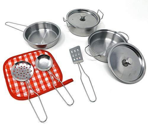 Brigamo Metall Kochgeschirr Set Kinderküche Geschirr Metall,...