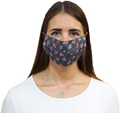 Schlusen Trachtenmode 2-lagige waschbare Mund-Nasen-Maske Behelfsmaske...