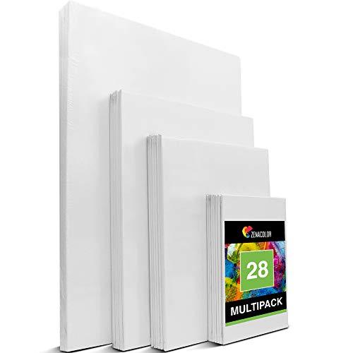 Zenacolor - Canvas Set 28 teilig - Leinwand zum Malen Multisizes -...