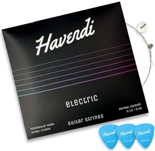 HAVENDI® Gitarrensaiten E-Gitarre - brillante Klangqualität Saiten...
