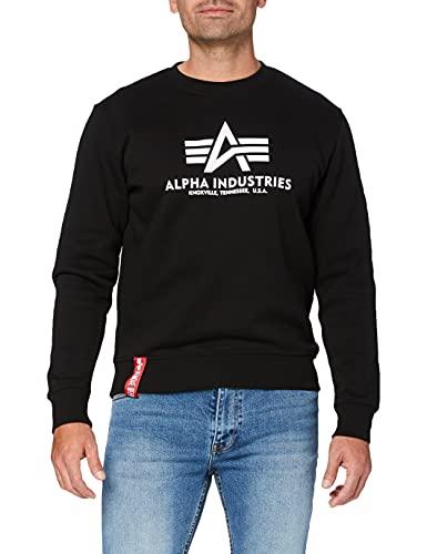 ALPHA INDUSTRIES Herren Basic Sweater Pullover, Schwarz (Black 03),...