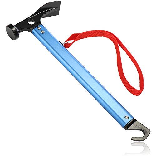 com-four® Camping Hammer mit Heringauszieher - Zelt Hammer mit...