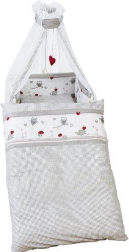 roba Kinder-Bettgarnitur 4-tlg 'Adam & Eule', Babybett-Ausstattung,...