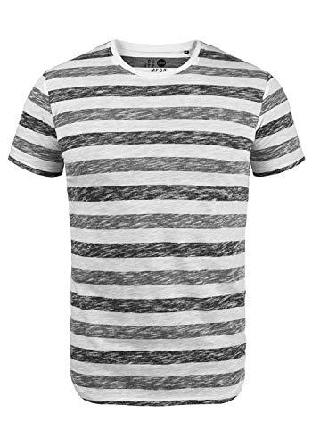 !Solid TET Herren T-Shirt Kurzarm Shirt Mit Streifen Und...