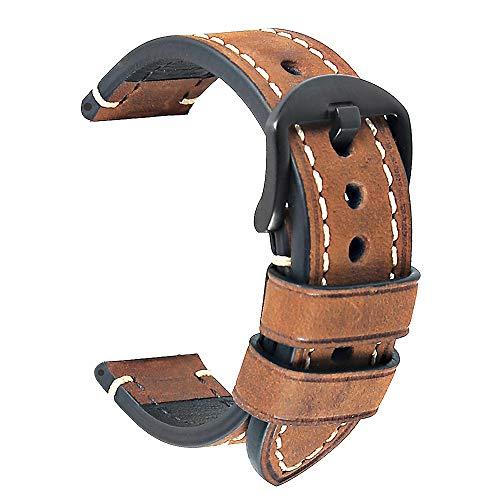 Uhrenarmband 20 mm Ersatz-Uhrenband Leder Uhrenarmband Männer Armband...