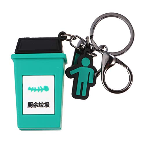 Nuobesty Mini-Mülleimer, Miniatur-Schlüsselanhänger, Mülleimer,...