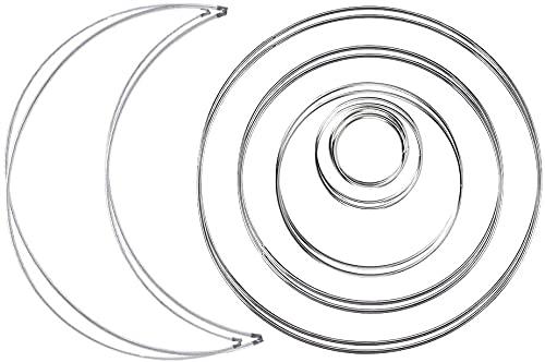 Koytoy 14 Pieces Metallring Deko,6 Sizes Metallring Wire Rings...