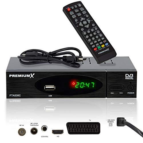 PremiumX Kabel Receiver DVB-C FTA 530C Digital FullHD TV   Auto...