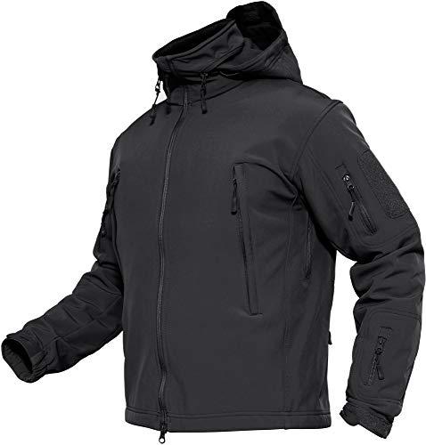 TACVASEN Herren Wasserdichte Softshell Fleece Outdoor Jacke mit...