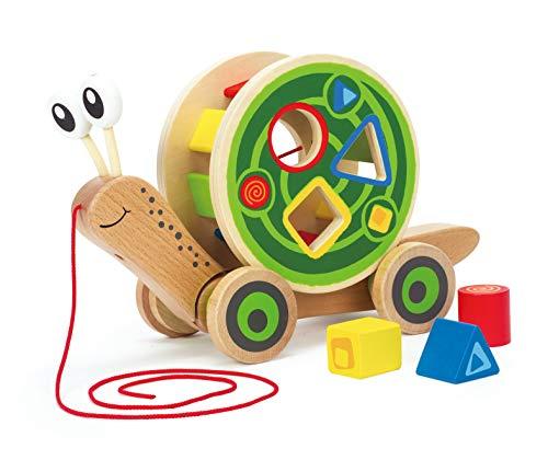 Hape E0349 - Nachzieh-Schnecke, Nachziehspielzeug, inkl. Farb- und...