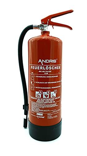 Orig. ANDRIS® Marken-Qualitäts-Feuerlöscher 6kg ABC Pulverlöscher...
