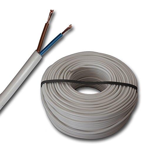Kunststoff Schlauchleitung rund LED Kabel Leitung Gerätekabel H05VV-F...