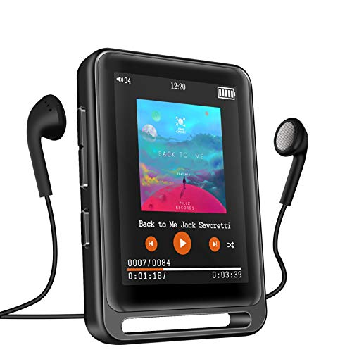 MP3 Player, 16GB Bluetooth MP3 Player mit 2.4' LCD Touchscreen, Sports...