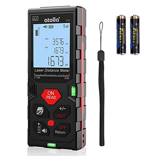 atolla Laser Entfernungsmesser messgerät bis zu 60m/±2mm Messung von...