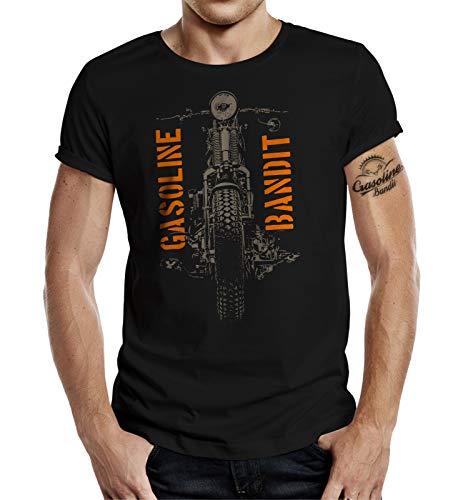 Biker Racer T-Shirt: Springer (L, Schwarz)