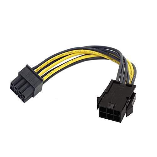 R10 6 Pin auf 8 Pin PCIE PCI Express Grafikkarte Stromkabel Adapter...