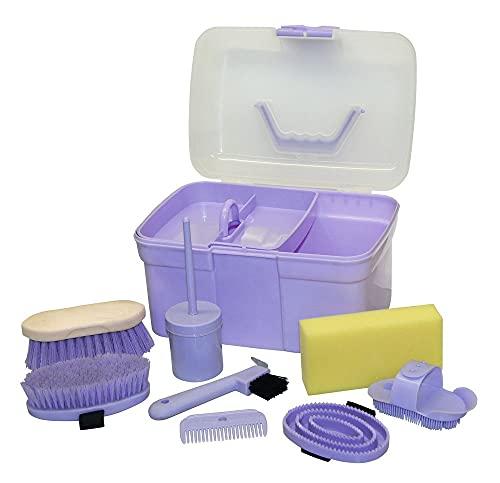 Kerbl Putzbox befüllt für Kinder, lila (Pflegeset für Pferde)...