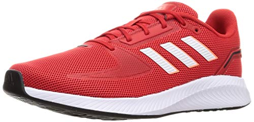 adidas Herren Runfalcon 2.0 Running Shoe, Vivid Red/Cloud White/Solar...