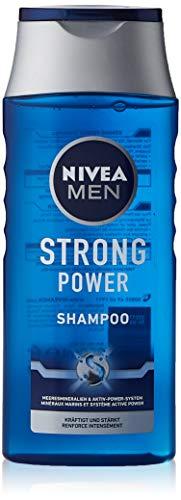 NIVEA MEN Strong Power Shampoo (250 ml), effektives Haarshampoo mit...