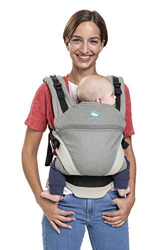 Babytrage manduca XT Cotton/grey-ocean/All-In-One Babytrage für...