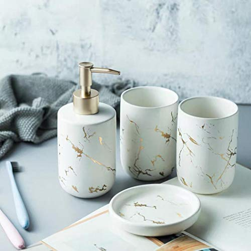 Keramik-Badezimmer-Sets, 4-teiliges Badezimmer-Zubehör-Set,...