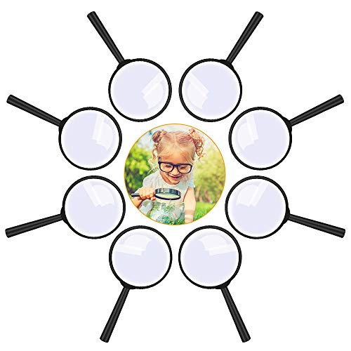 Lupe Kinder 8 Stück, Lupen Set Spielzeug Kunststoff Tragbare Minilupe...