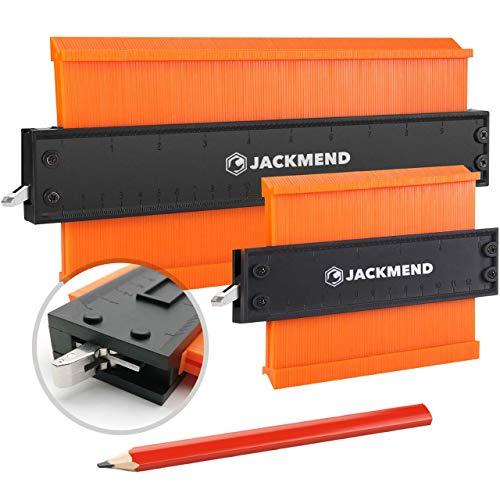 JACKMEND 2-in-1 Konturenlehre - 5 & 10-Zoll, mit Metallschloss -...