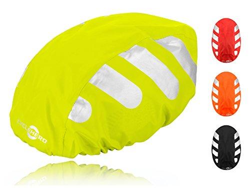 Wasserdichter Regenschutz für den Fahrradhelm (gelbes Cover) Unisex...