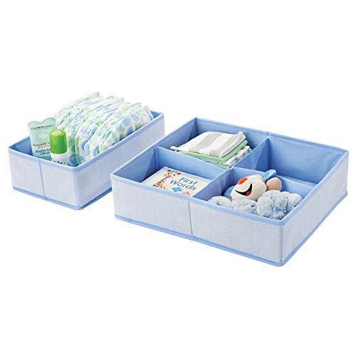 mDesign 2er-Set Aufbewahrungsboxen für Kinderzimmer, Bad usw. –...