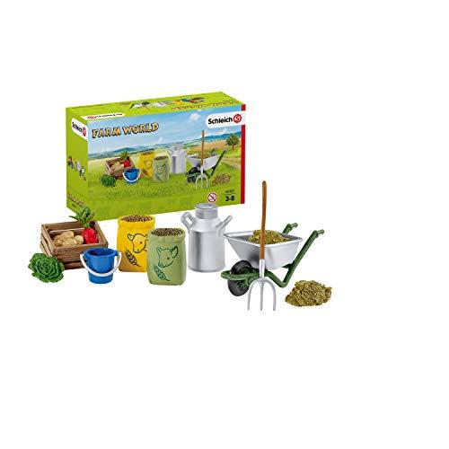 Schleich 42301 Farm World Spielset - Fütterung der Bauernhoftiere,...